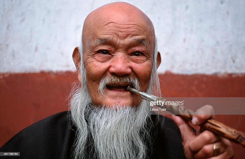Old Chinese Man With Beard