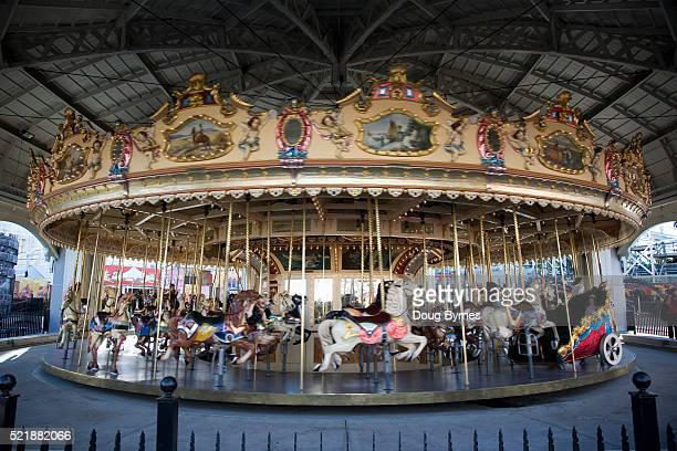 An Old Elaborate Carousel