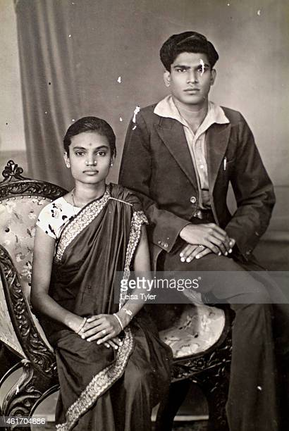 An old family photograph sold to an antique shop by a family abandoning their mansion in Karaikudi in the Chettinad region of Tamil Nadu Numbering...