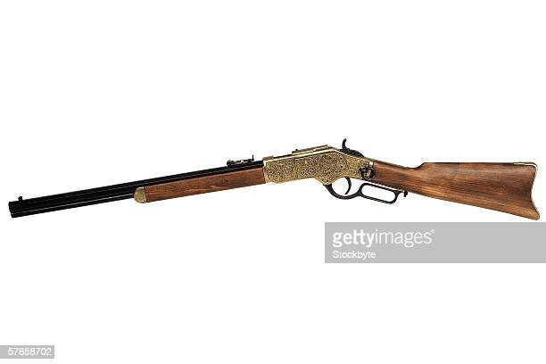 an old fashioned rifle