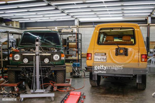 An old HMC gallopper re install at mohenic garages in Paju South Korea A 20yearold beat up Hyundai SUV isn't anyone's idea of a dream car But used...
