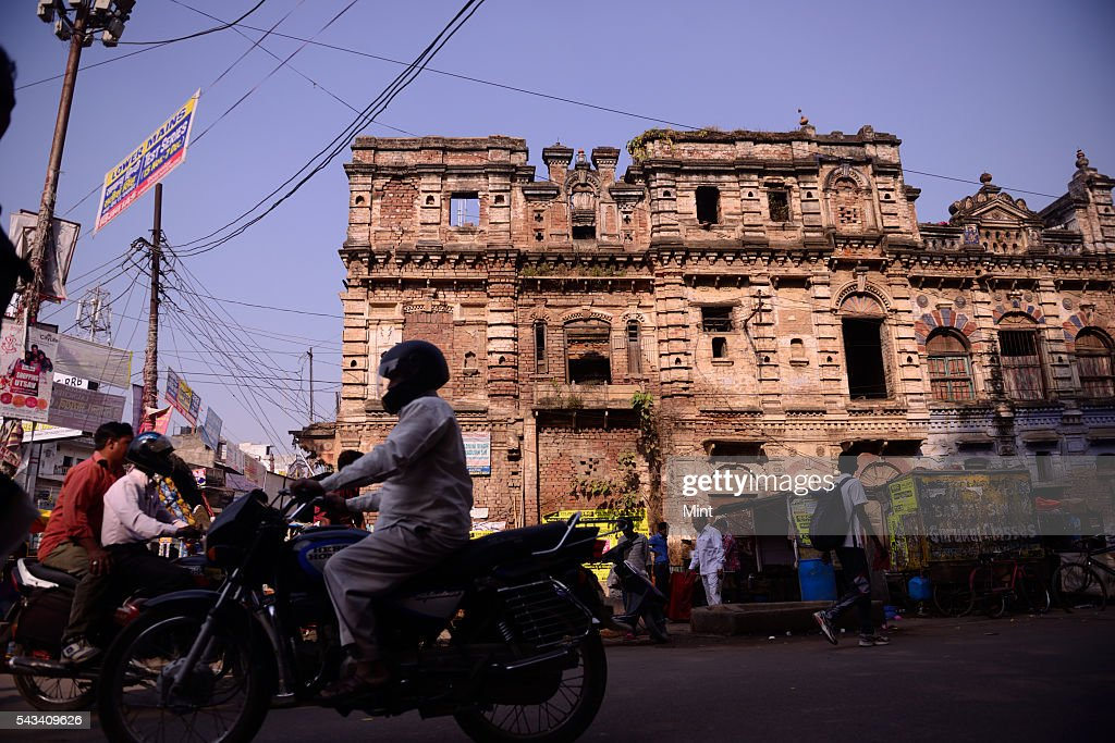 An old mansion in very bad condition near the Allahabad university on November 19, 2014 in Allahabad, India.