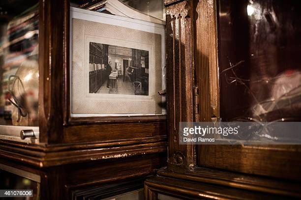 An old picture of Musical Emporium store dated on 1908 is seen on a display at Musical Emporium store during its last day open to the public on...
