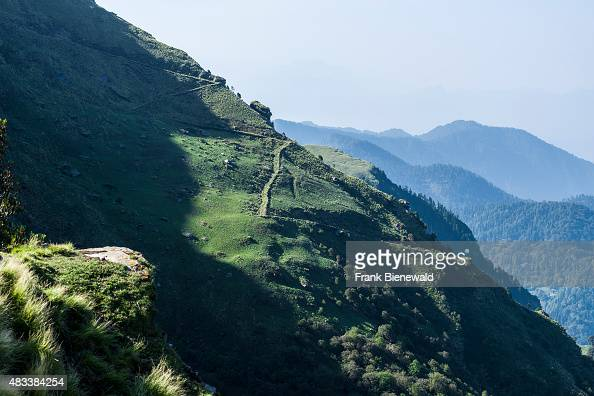 TUNGNATH UTTARAKHAND INDIA An old pilgrims track is leading up to Tungnath Temple located at an altitude of 4000 meters in Garwhal Himal
