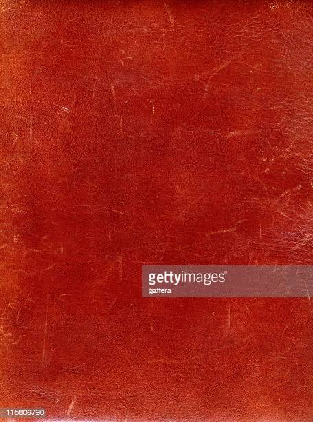 An old red leather with minor scratches
