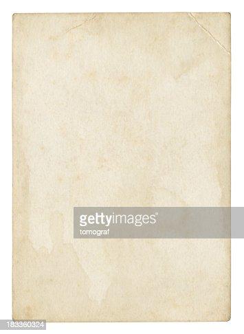 古いブランク紙(絶縁クリッピングパスが含まれています