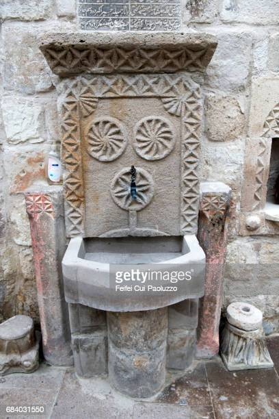 An old style water fountain at street of Göreme, Turkey
