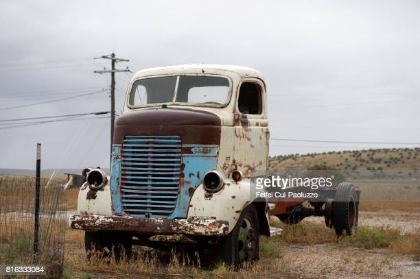 An old truck stop at an abandoned gas station at Seligman, Arizona, USA