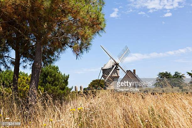 An old windmill near Guerande, France