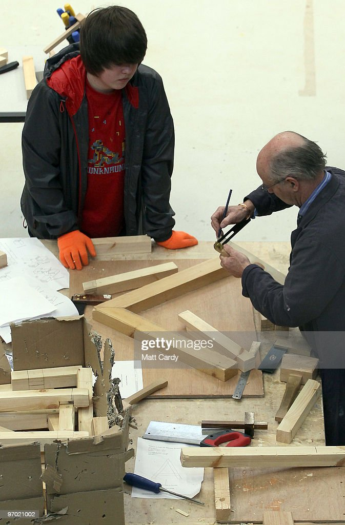 An older pupil at the Bridge Learning Campus learns carpentry on February 24, 2010 in Bristol, England. The 40million GBP campus in Hartcliffe, Bristol, was constructed as part of the Government's Building Schools for the Future programme and opened in January 2009. It now offers over 800 pupils a life long provision of learning from nursery, reception and primary to secondary and post-16 education. As the UK gears up for one of the most hotly contested general elections in recent history it is expected that that the economy, immigration, the NHS and education are likely to form the basis of many of the debates.