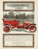 An Oldsmobile Touring Car is shown in a magazine advertisement dated 1908 This fivepassenger car fully equipped is priced at $2750