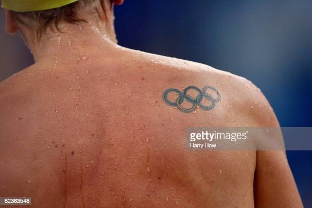 Sink or swim tattoo stock photos and pictures getty images for Swimming after a tattoo