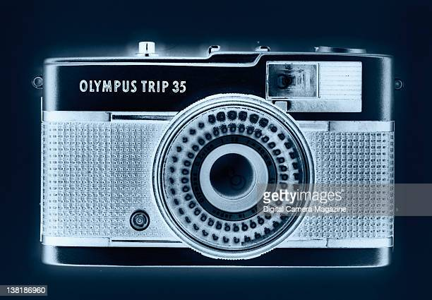 An Olympus Trip 35 camera highlighted with an Xray effect session for Digital Camera on February 16 2011