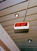 An 'On Air' sign in a studio