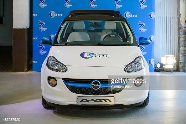 An Opel Adam car a presentation of the Wrigley Bottle Holder by Jette Joop on September 8 2015 in Berlin Germany