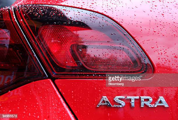 An Opel Astra automobile sits on display prior to the opening of the Frankfurt Motor Show in Frankfurt Germany on Monday Sept 14 2009 Opel will be...