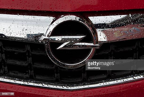 An Opel logo is seen on an Opel Astra automobile on display prior to the opening of the Frankfurt Motor Show in Frankfurt Germany on Monday Sept 14...