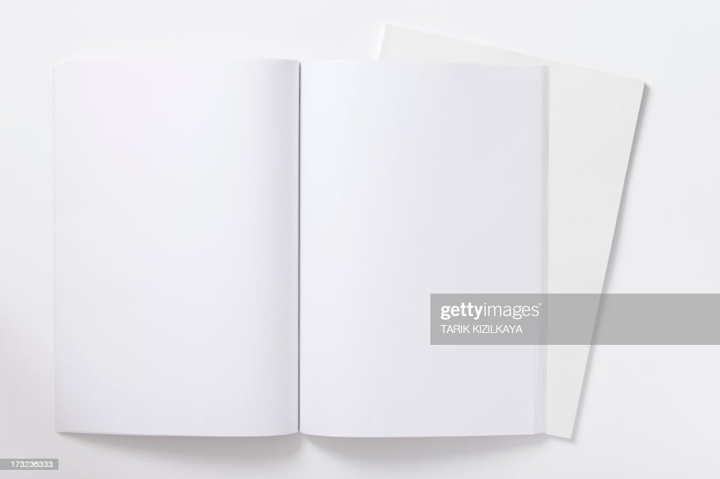 An open blank notebook ready to be filled