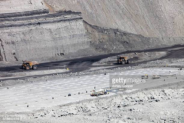 An open cast or drift coal mine managed in the Hunter Valley, New South Wales.