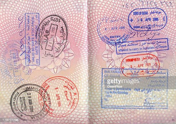 Passaporto con francobolli