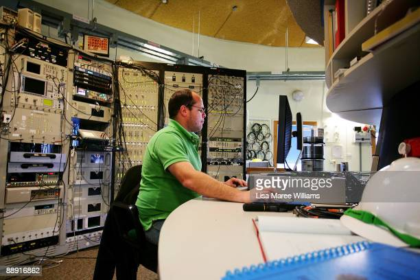 An Operations Scientist works in the control room of The Australian Commonwealth Scientific and Industrial Research Organisation's Australia...