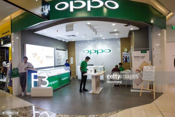 An Oppo Electronics Corp store stands inside the Junction City Mall in Yangon Myanmar on Friday June 16 2017 In 2015 Myanmar signed up more people...