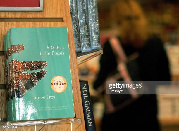 An Oprah's Book Club book titled 'A Million Little Pieces' by James Frey is displayed at a Borders Book store September 26 2005 in Norridge Illinois...