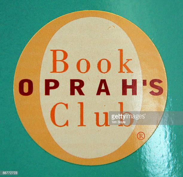 An Oprah's Book Club logo is seen on the cover of a book titled 'A Million Little Pieces' by James Frey at a Borders Book store September 26 2005 in...