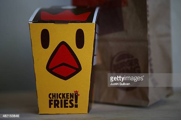 An order of Burger King's chicken fries are displayed on July 27 2015 in San Rafael California Burger King parent company Restaurant Brands...