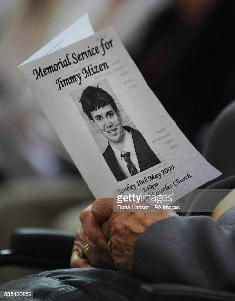 An Order of Service for murdered schoolboy Jimmy Mizen during a memorial service to mark the first anniversary of Jimmy's death held at the Our Lady...