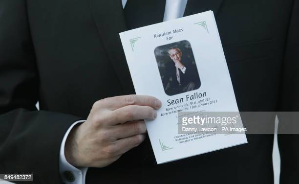 An order of service for the funeral of former Celtic assistant manager Sean Fallon at Christ the King Church in Glasgow Scotland