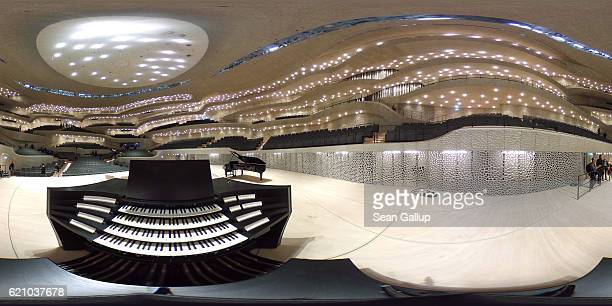 An organ stands the large hall of the newlycompleted Elbphilharmonie concert hall on November 4 2016 in Hamburg Germany Designed by the archiecture...