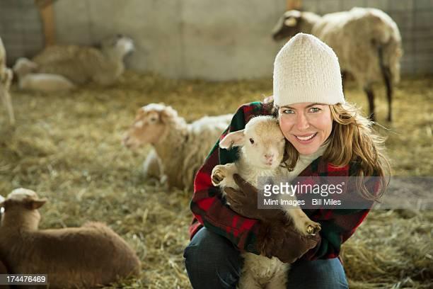 オーガニック農園で冬のコールドスプリング,New York