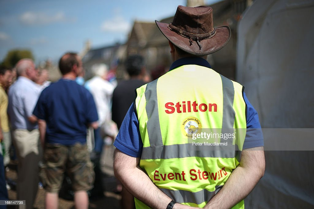 An organiser keeps an eye on the Stilton Village Festival on May 6, 2013 in Stilton, England. Local people are currently involved in a campaign to bring Stilton cheese making back to the village. The cheese is only made exclusively in the counties of Nottinghamshire, Leicestershire and Derbyshire .