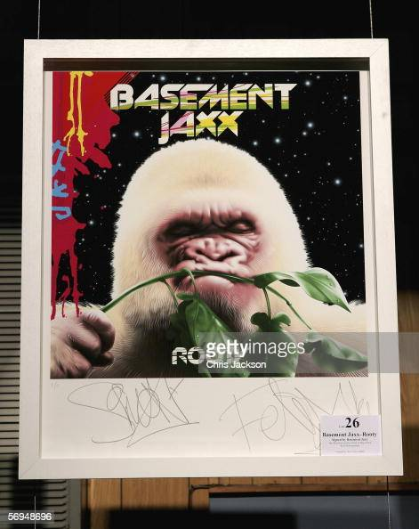 an original basement jaxx album cover is seen at the sound and vision