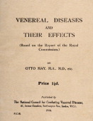 An original booklet on sexually transmitted diseases and their effects produced during World War One circa 1916
