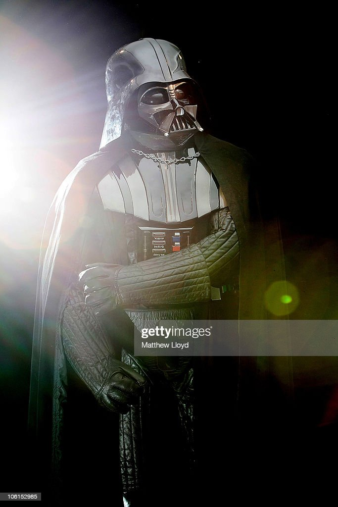 An original Darth Vader costume from the Star Wars films on display in Christie's auction house on October 27, 2010 in London, England. The rare collectors piece is expected to realise between GBP160,000 and GBP230,000.