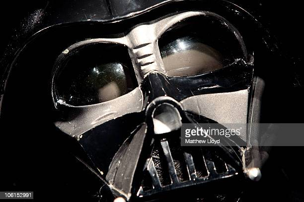 An original Darth Vader costume from the Star Wars films on display in Christie's auction house on October 27 2010 in London England The rare...