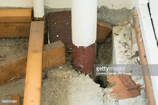 An original gas pipe inside a flat in Bromyard House on the Ledbury estate in south London Hundreds of residents may be evacuated from their highrise...