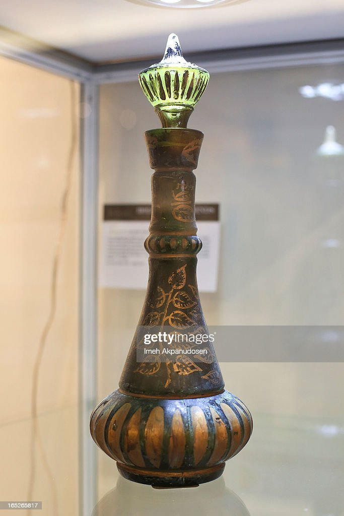 An original genie bottle used on the first season of TV series 'I Dream Of Jeannie' on display during the 'Hollywood Legends' auction preview at Julien's Auctions Gallery on April 1, 2013 in Beverly Hills, California.