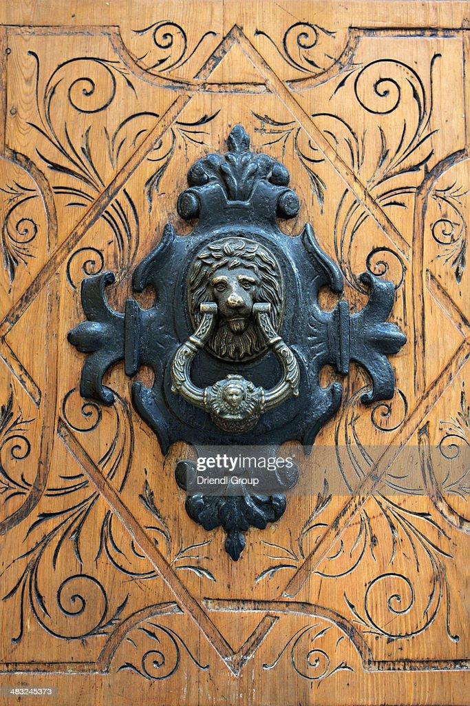 An Ornate Door Knocker In Madrid. : Stock Photo