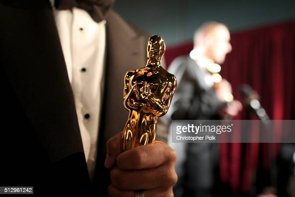 An Oscar statue backstage at the 88th Annual Academy Awards at Dolby Theatre on February 28 2016 in Hollywood California