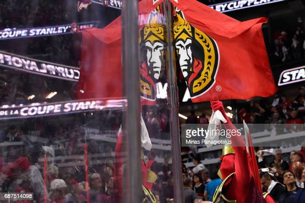 An Ottawa Senators fan cheers after the Ottawa Senators defeated the Pittsburgh Penguins with a score of 2 to 1 in Game Six of the Eastern Conference...