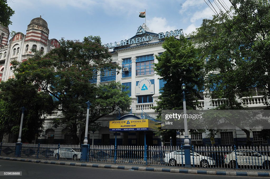 An outside view of Allahabad Bank Head office on May 28, 2015 in Kolkata, India.