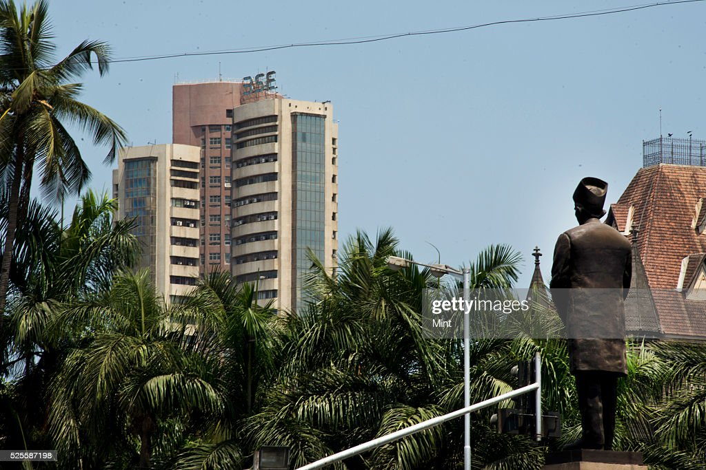 An outside view of Bombay Stock Exchange on May 15, 2015 in Mumbai, India.