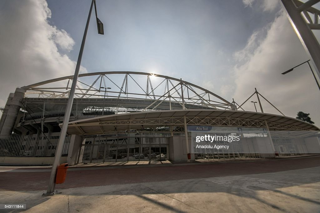 An outside view of Engenhao stadium in Rio de Janeiro, Brazil as the preparations for the Olympics continue on June 25, 2016. More than 10,500 athletes from 206 National Olympic Committees (NOCs), including first time entrants Kosovo and South Sudan, are scheduled to take part.