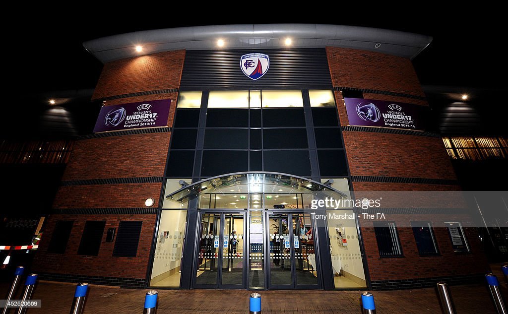 An outside view of the Chesterfield FC Stadium during the UEFA Womens U17 Championship Finals match between England and Austria at Chesterfield FC Stadium on November 29, 2013 in Chesterfield, England.