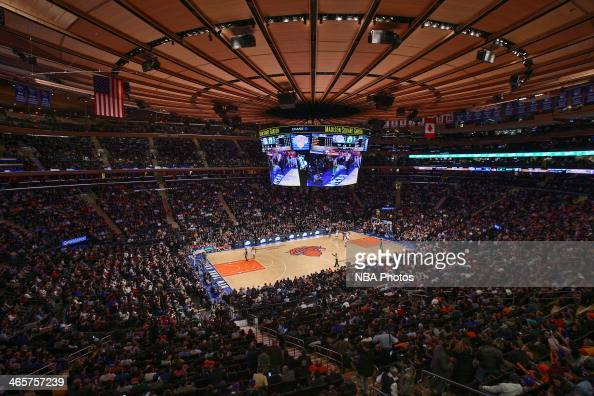 An overall view Madison Square Garden during the Boston Celtics game against the New York Knicks in New York City on January 28 2014 NOTE TO USER...