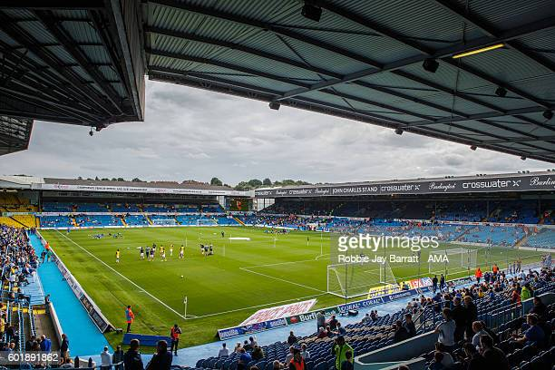 An overall view of Eland Road home stadium of Leeds United during the Sky Bet Championship fixture between Leeds United and Huddersfield Town at...