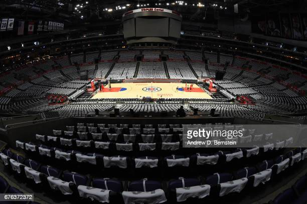 An overall view of Staples Center before Game Seven of the Western Conference Quarterfinals between the Utah Jazz and the LA Clippers during the 2017...